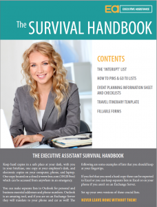 Executive Assistant Survival Guide