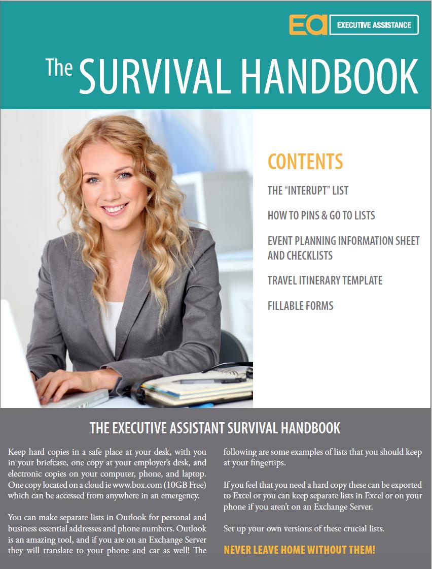 the executive assistant survival handbook  u2013 executive assistance