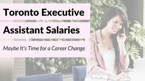 toronto executive assistant salary